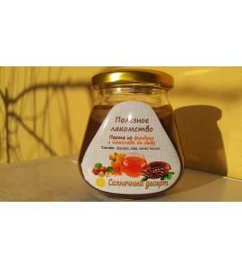 Тёртый сырой фундук с мёдом и шоколадом (250 грамм).