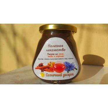 Лён с корицей на меду (250 грамм).