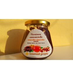 Шоколадно-арахисовая паста с мёдом (250 грамм).